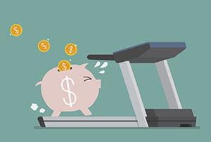 pig running on treadmill